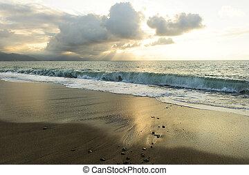 Ocean Sunset Sun Rays - Ocean sunset sun rays is a bright...