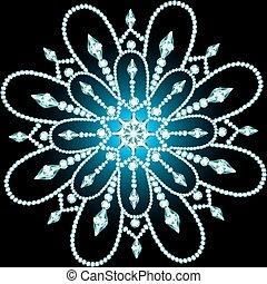 Christmas snowflake crystal precious Beautiful jewelry,...
