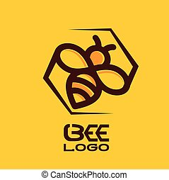 bee logo concept designed in a simple way so it can be use...