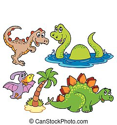 Various dinosaur collection - vector illustration