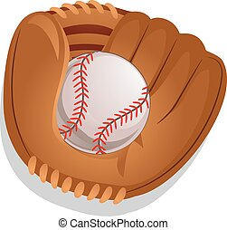 Baseball Gloves with Ball