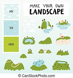 Landscape constructor - Make your own landscape with 3...