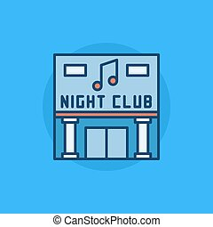 Night Club building flat icon