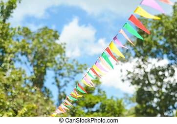 Triangle or pennant banner photo - Photograph of a triangle...