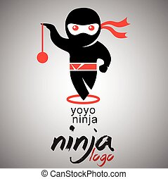 yoyo ninja logo - ninja logo concept designed in a simple...