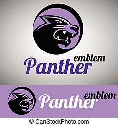 panther emblem concept designed in a simple way so it can be...