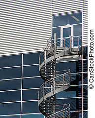 vertical stairway to nowhere - round set of stairs leading...