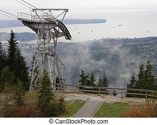 Grouse Mountain near Vancouver in Canada