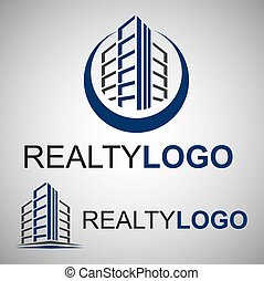realty logo concept designed in a simple way so it can be...
