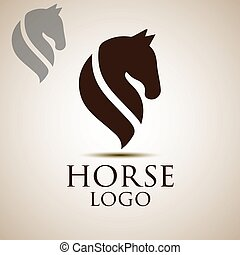 horse logo concept designed in a simple way so it can be use...