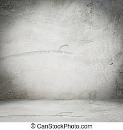 old cement room interior at home for background with space