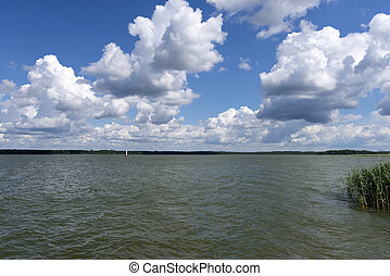 Landscape on Mazury - Summer landscape - View of the lake...