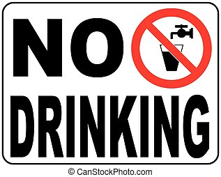 Not drinking water sign- vector Non-potable water - Not...