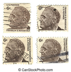 Old postage stamps from USA 6 cent - old postage stamps from...