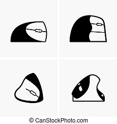 Vertical mice, shade pictures