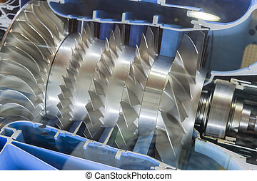 Turbine Engine Profile. Aviation Technologies. Aircraft jet...