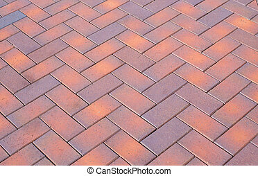 colored paving slabs