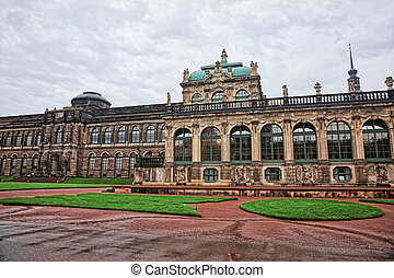 Zwinger palace in Dresden of Germany - Dresden, Germany -...