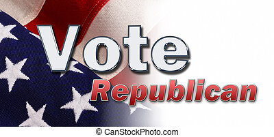 Vote Now. - Vote message with American flag in background.