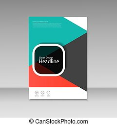 Vector cover design for brochure template