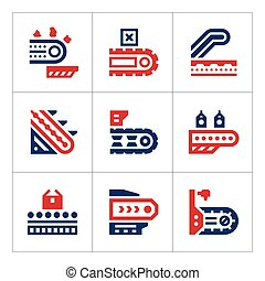 Set color icons of conveyor
