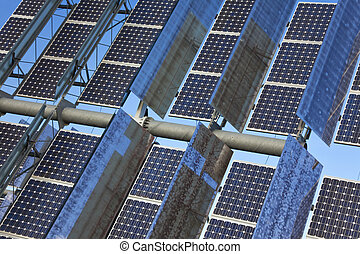 Close Up Renewable Green Energy Photovoltaic Solar Panel