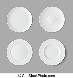 Vector Isolated on Background. Table Setting - Vector...