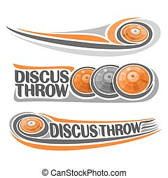 Vector logo athletics discus throw - Vector logo for...