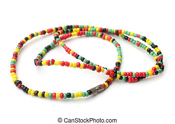 Colored thread beads