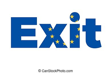 Exit from European Union on Referendum. Vector Isolated