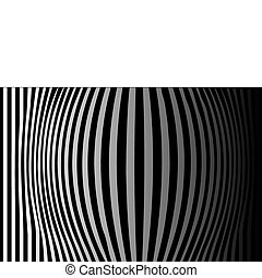 Background op art - Op Art Bulging Vertical Stripes Black...
