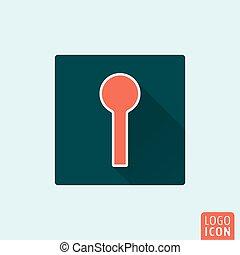 Keyhole icon isolated - Keyhole icon Hole for key flat...
