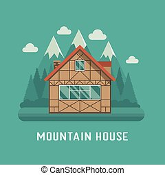 Mountain Chalet House - Traditional half-timbered cottage at...