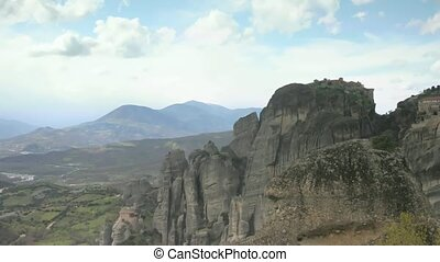 Time lapse clouds over Meteora