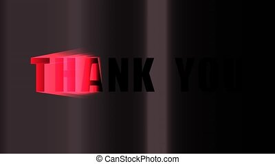 Thank You Animation - A motion graphic video animation clip...