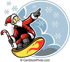 Surfing santa Clip Art Vector and Illustration. 130 Surfing santa ...