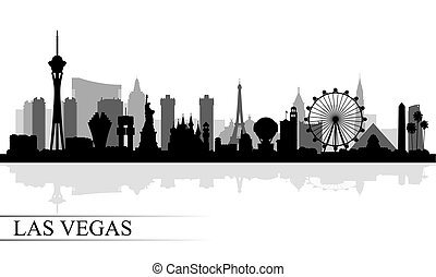 Las Vegas city skyline silhouette background, vector...
