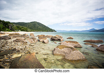Fitzroy Island Beach - Fitzroy Island main beach area with...