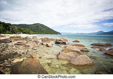 Fitzroy Island Beach - Fitzroy Island main beach area with...