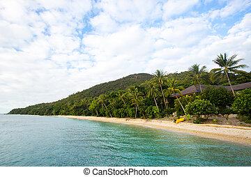 Fitzroy Island Beach - Fitzroy Island main beach resort area...