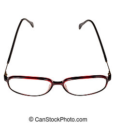 Old glasses isolated