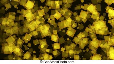 Shiny squares in yellow