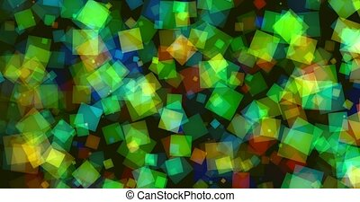 Shiny squares in various colors4K