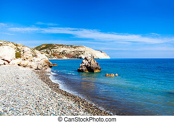 Aphrodites birthplace beach in Paphos, Cyprus - Aphrodites...