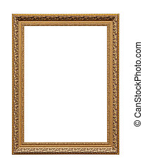 Golden classic painting canvas frame - Classic golden...