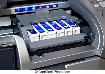 Ink cartridges in printer