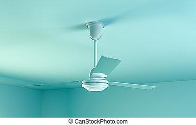 ceiling fan - 3d illustration of a ceiling fan