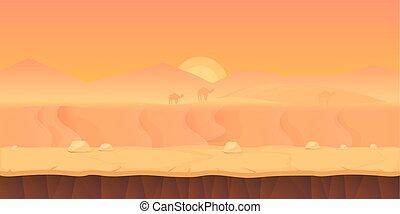 Desert landscape. illustration