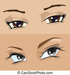 eyes girl - The eyes girl Illustration in vector format EPS...