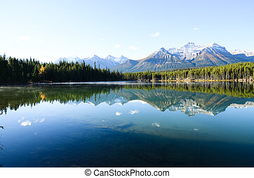 Herbert Lake in Autumn Morning, Canadian Rockies